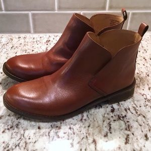 Lucky Brand Nightt Leather Ankle Boots Size 9